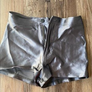Silver American Apparel Shorts